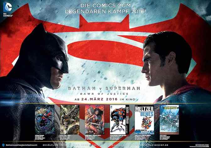 Am 24. März startet Batman v Superman – Dawn of Justice im Kino!